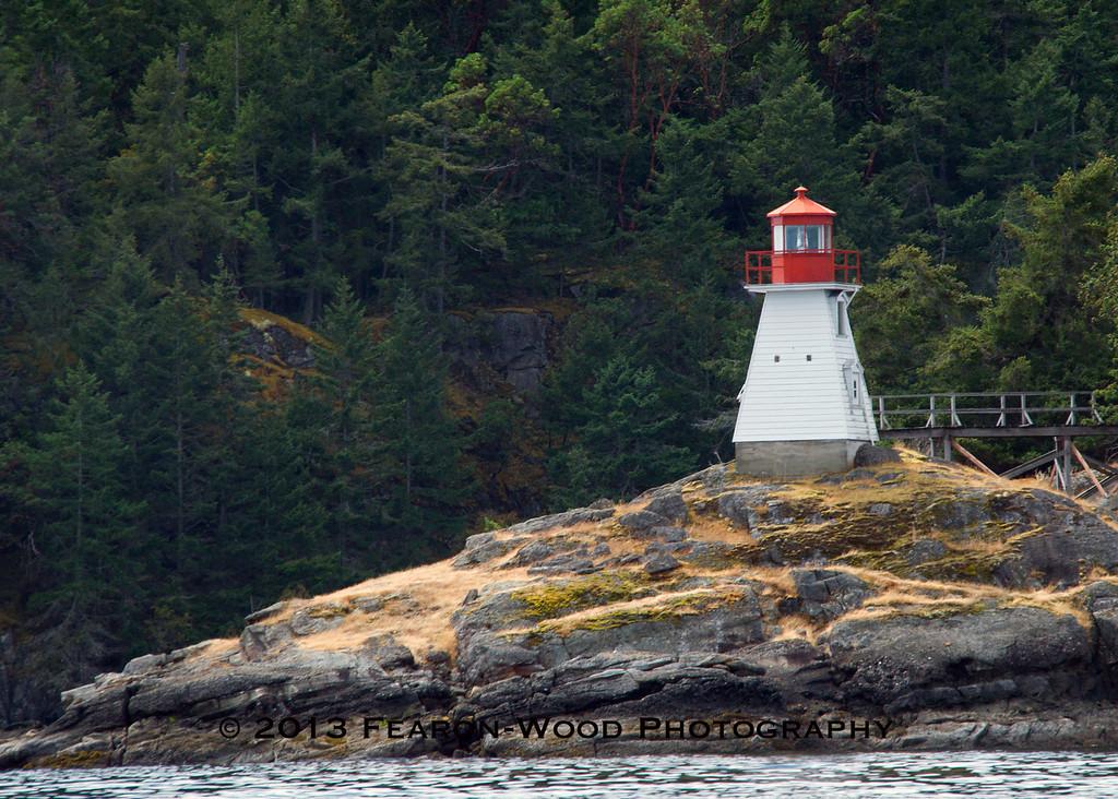 lighthouse beacon<br /> Prevost Island, BC