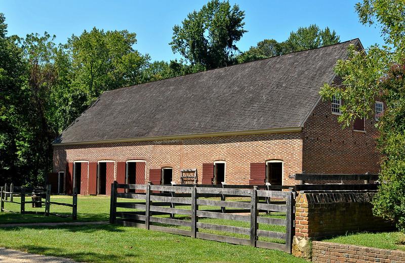 all brick barn