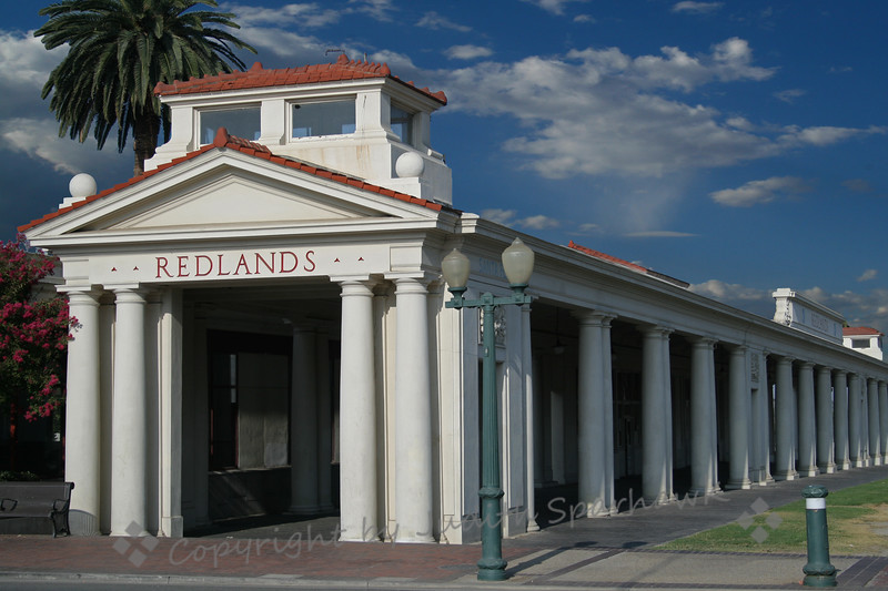 Santa Fe Depot in Redlands ~ Another view of the historic train depot.