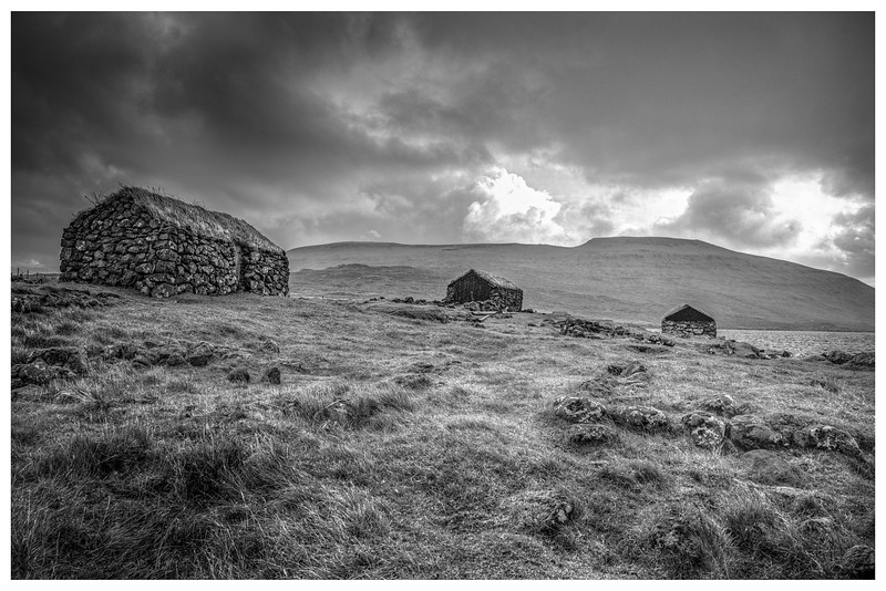 Faroe Shelters  7   Black and White Photography by Wayne Heim