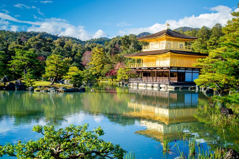 Kinkaku-ji Temple in Kyoto. Editorial credit: Chayakorn Lotongkum  / Shutterstock.com
