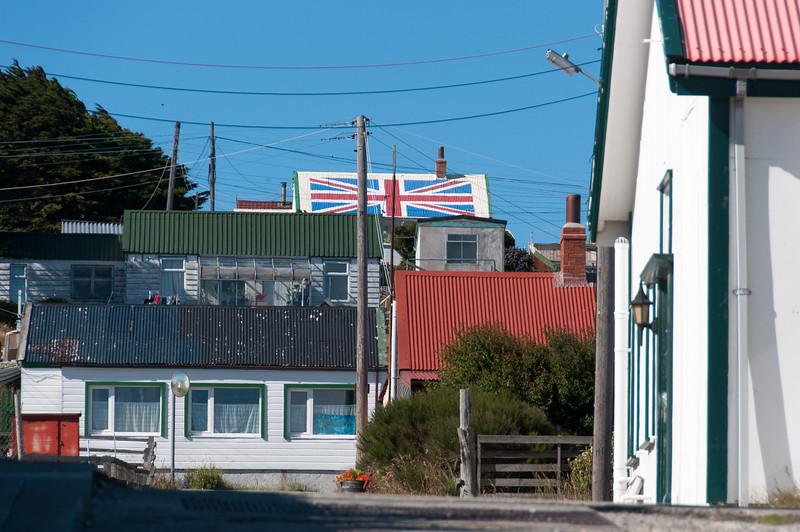 British flag design on roof - Stanley, Falkland Islands