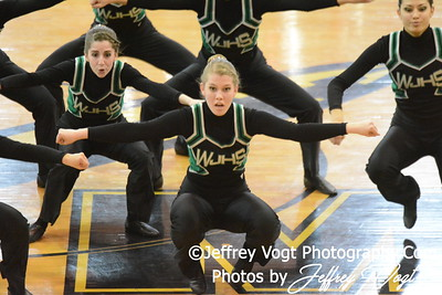 02-01-2014 Walter Johnson HS Poms at MCPS County Championship Division 3,  Photos by Jeffrey Vogt Photography & Kyle Hall
