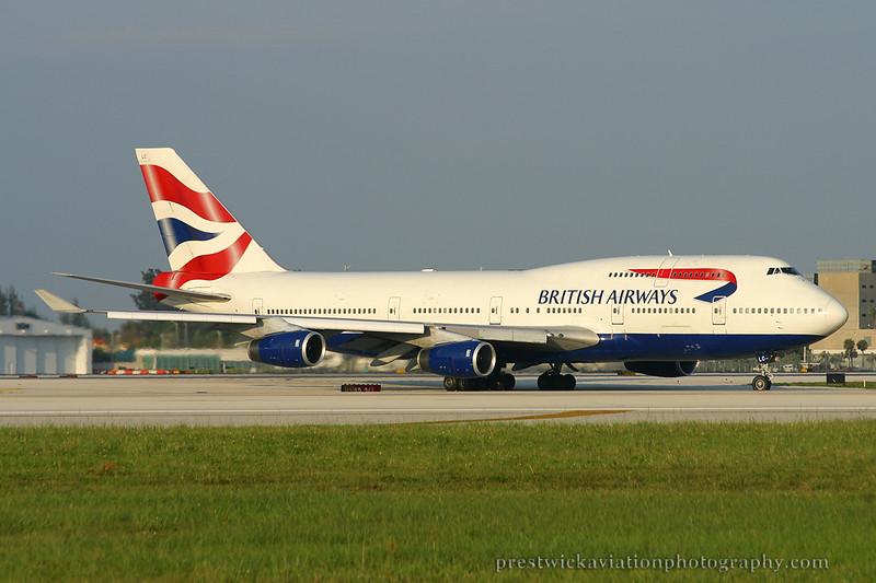 G-BNLC. Boeing 747-436. British Airways. Miami. 270904.