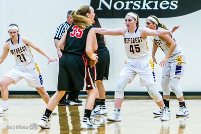 HS Sports - DeForest Girls Basketball - Feb 26, 2016