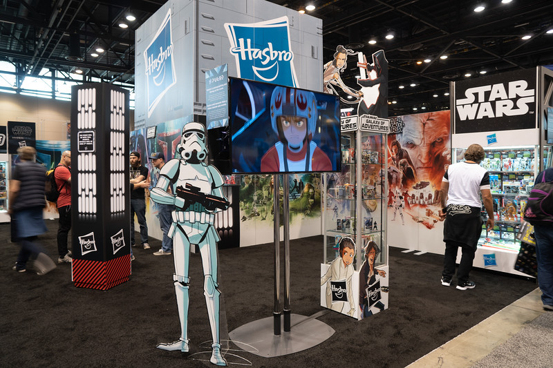 The Hasbro booth at Star Wars Celebration 2019