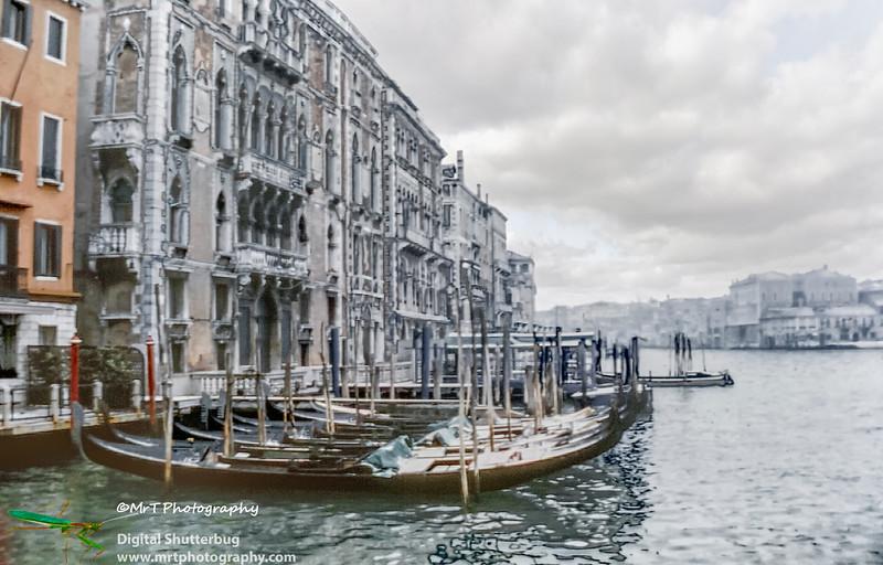 Grand canal in winter Venice