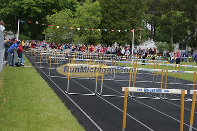UP Boys' 110 Meter Hurdles - 2015 MHSAA TF Finals