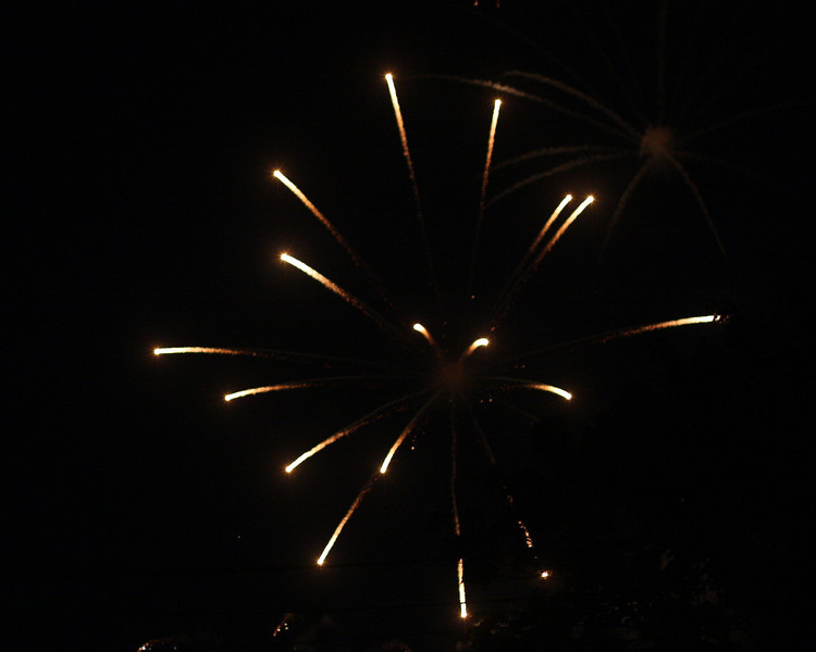Watching the Fourth of July fireworks from the Great Lawn, Westhampton Beach, NY.