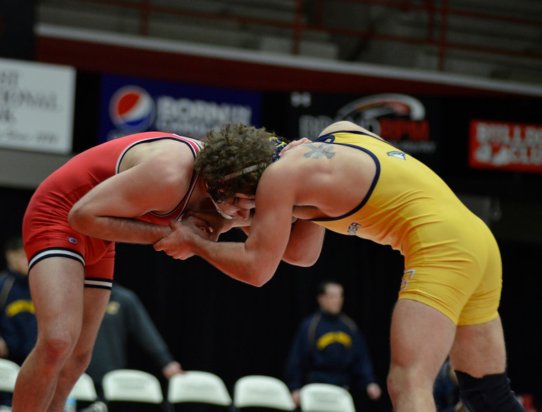 GWU Wrestling battles a tough loss against Chattanooga Friday, February 1.  (40-6)