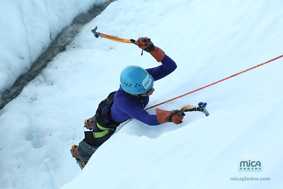 Ice Climbing with Sandra and Lizzie