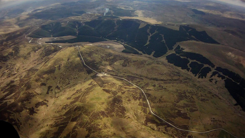 Moor-top roads to the many windfarms