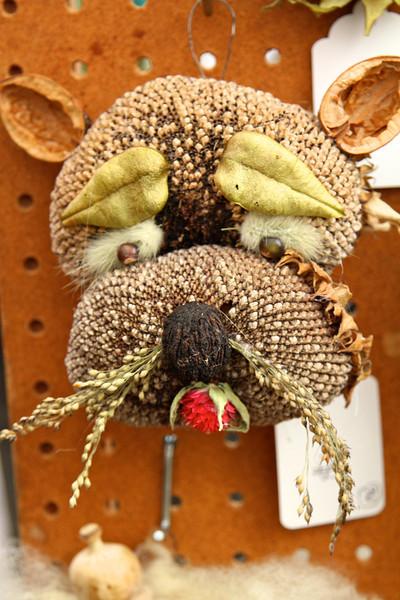 Pumpkin Ridge Garden with their whimsical bird feeders
