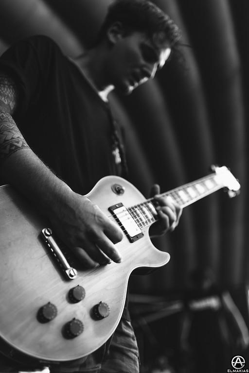 Kamron Bradbury of Beartooth live at Vans Warped Tour 2015 by Adam Elmakias