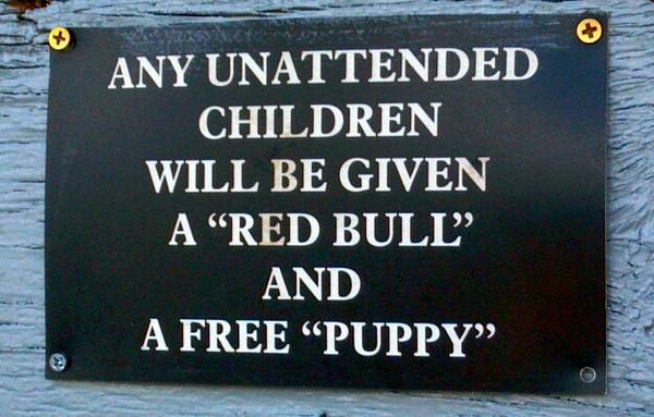 Sign at the Tiki Bar.