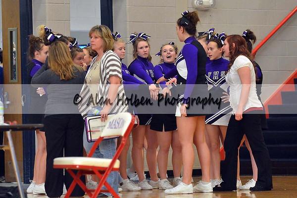 Cheer at Mason Feb 4 - Fowlerville varsity - Round 2