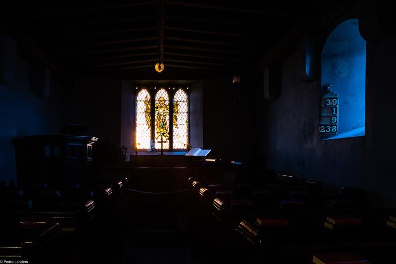 St Michael de Rupe Interior at Sunrise