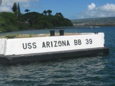 Marker was the USS Arizona was docked on 12/7/1941