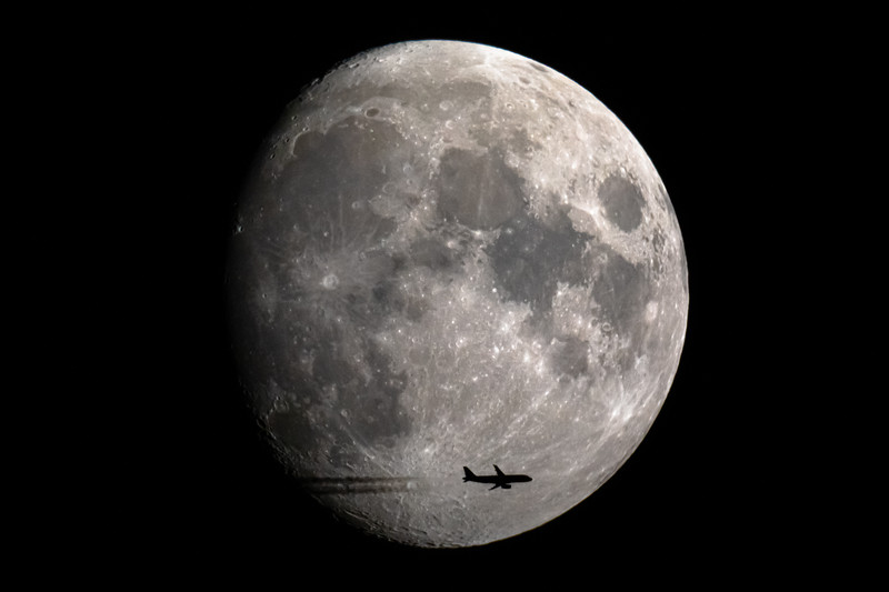 Moon - Spirit Airlines NK313