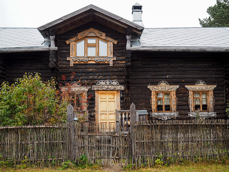 House in Mandrogy, Russia