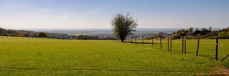 Chilterns scarp and Oxfordshire landscape