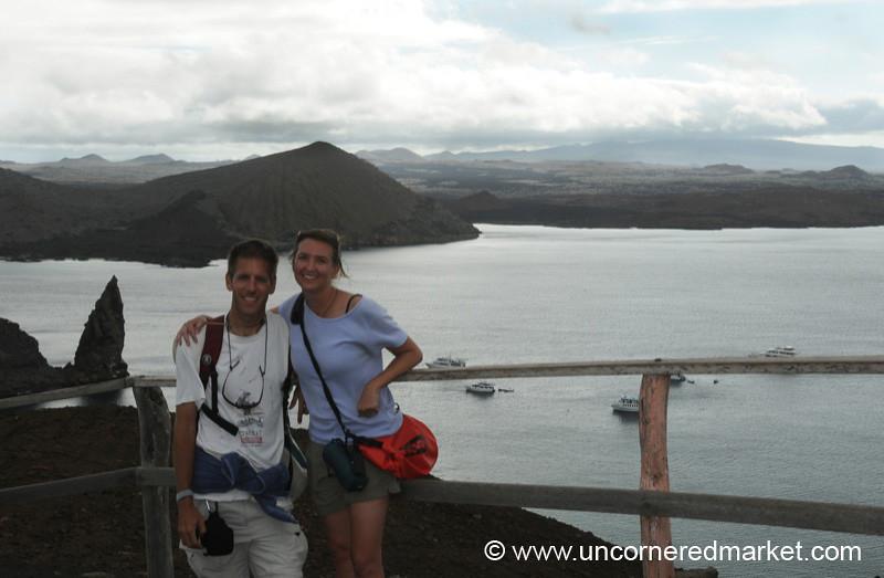 Dan and Audrey, Bartolome Island - Galapagos