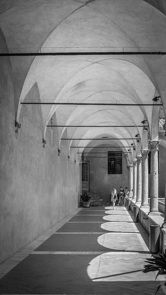 Pienza , Tuscany  B&W