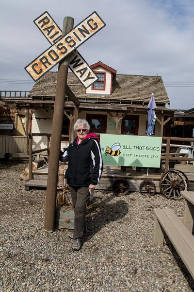 Karen on the Jimmy Jock Boardwalk