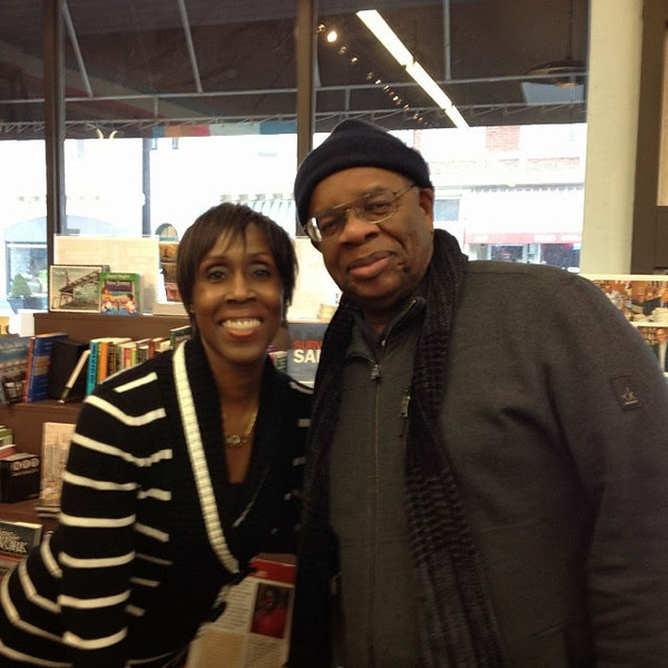 Gregory Burrus with Olympian Joetta Clark Diggs at Words Bookstore signing.jpg