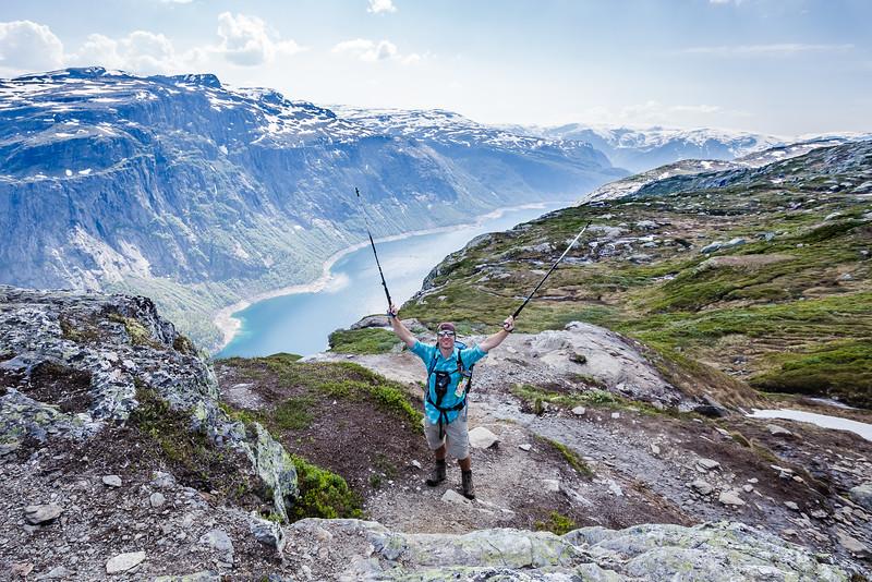 David Stock hiking in Norway