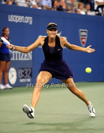 US OPEN Tennis with Maria Sharapova in Flushing , N.Y. on 9-2-10. all photos by Rob Rich © 2010 robwayne1@aol.com 516-676-3939