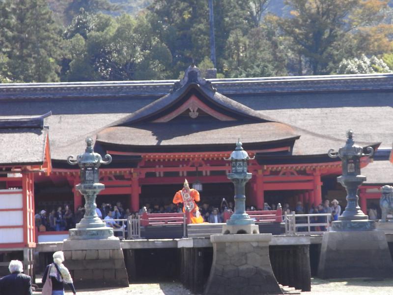 Gagaku dance dedicated to the god