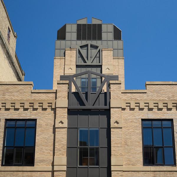 Art Deco Facade of an office building, Minneapolis, Hennepin County, Minnesota, USA