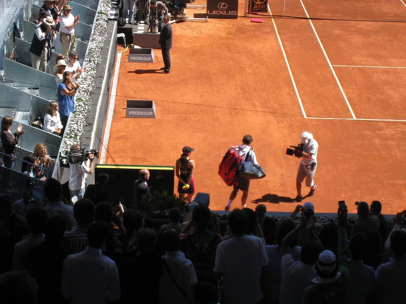 Roger at Madrid Open