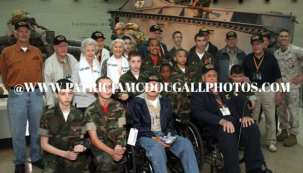Young Marines-WW2 Veteran's visit the Marine Corps Museum (April 2011)
