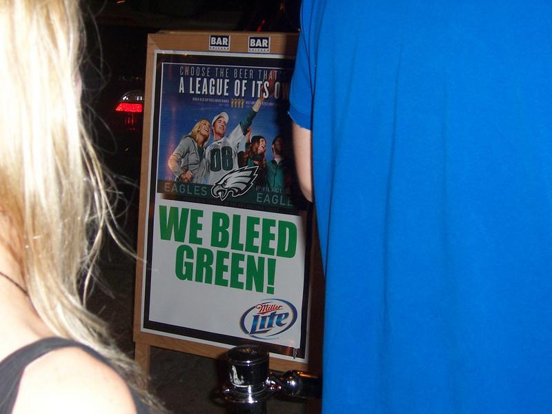OK, we don't literally bleed green, unless we encounter a rowdy Bears fan.