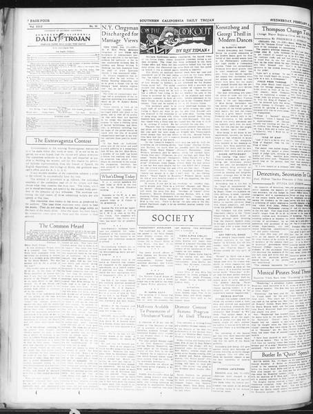 Daily Trojan, Vol. 22, No. 90, February 18, 1931