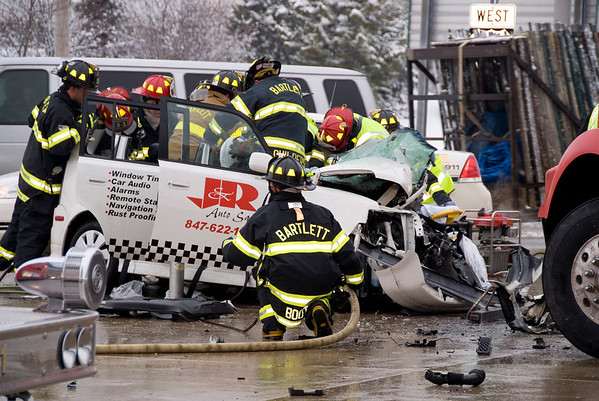 Bartett Feb. 9, 2008 - Injury accident with extrication Rts. 59 & 20.