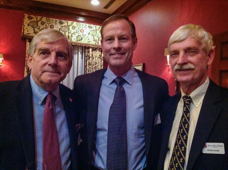 Dick Bennett '63, Jamie Hayes '88, and Peter Evans P'98