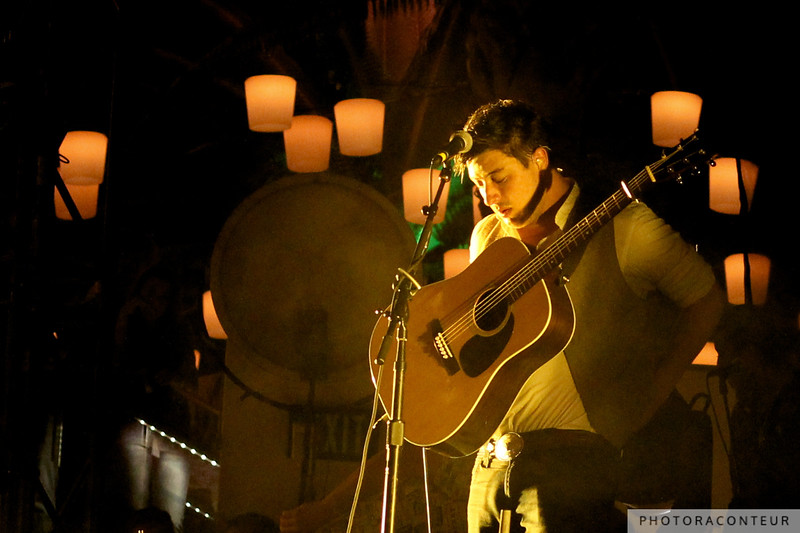 Marcus Mumford of Mumford & Sons in Las Vegas, April 2011  (Photo by Benjamin Padgett)