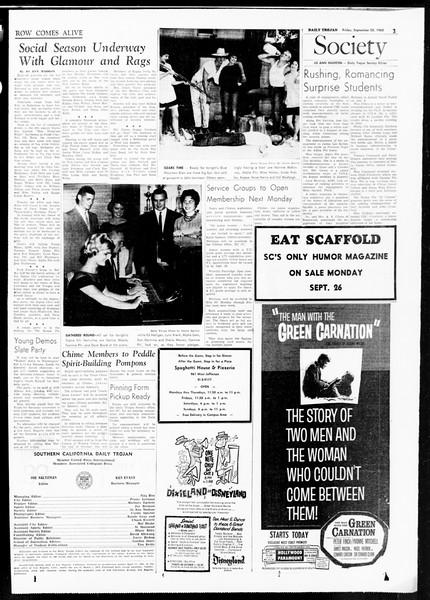 Daily Trojan, Vol. 52, No. 5, September 23, 1960