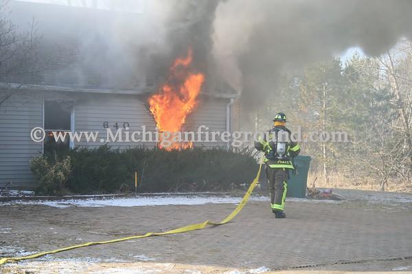 2/17/17 - Williamston house fire, 640 E. Holt Rd
