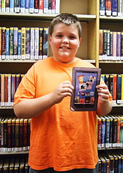 Sam won a Nook color.jpg
