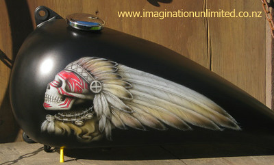 Custom Indian bike tank