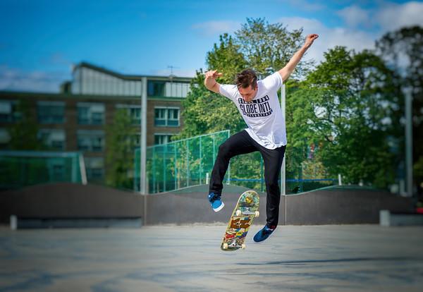 Skateboard on Finalebanen