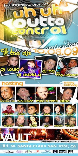 Industry Freakz Present Outto Control @ Area 81 10.3.09