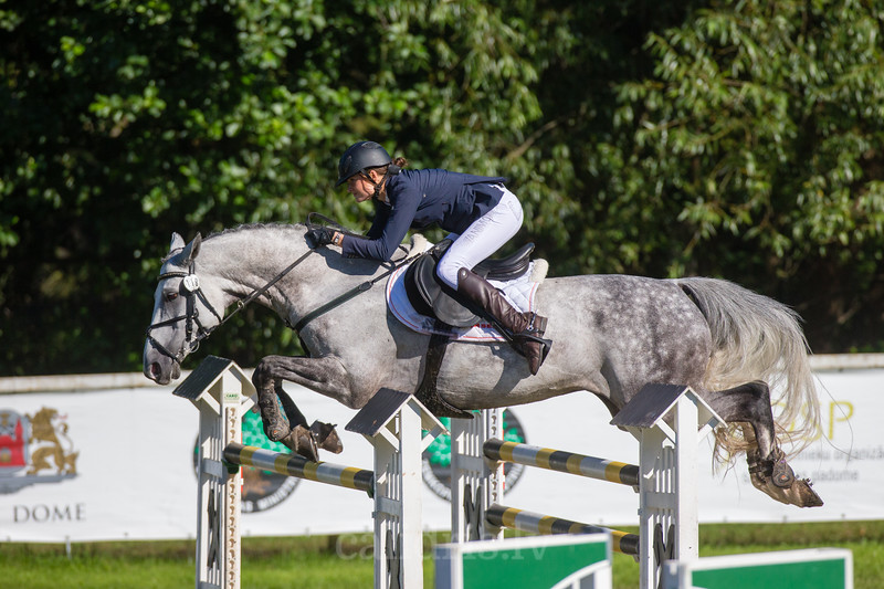 Monika VALUNTAITE (LTU) with the horse CELIC, World Cup competition, Grand Prix Riga, CSI2*-W, CSIYH1* - Riga 2016, Latvia