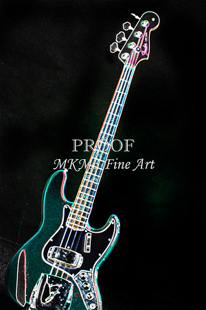Fender 1965 Jazz Bass Guitar Dark Drawings