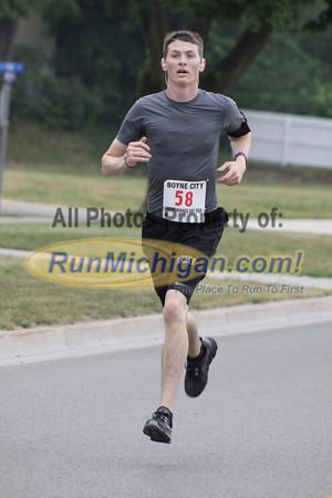 2 Mile Finish - 2013 Boyne City Independence Day Run