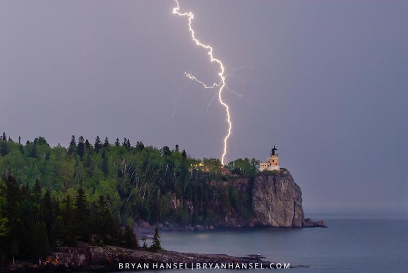 Lightning at Split Rock Lighthouse II